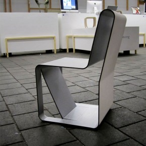 Serpentine ... the first bended aluminium composite chair